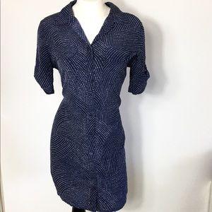 Equipment Femme Dress Silk Small Button Down